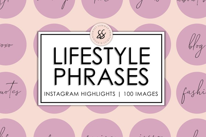 100 Lifestyle Instagram Dusty Rose Highlight Covers