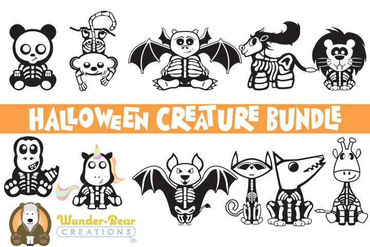 Halloween Bundle - Cute Halloween SVG Creatures!