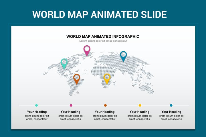 World Map Animated Slide