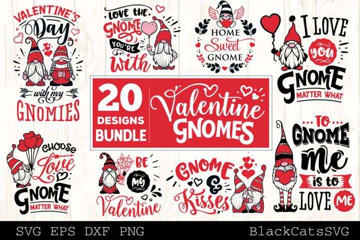 Valentine Gnomes SVG bundle Gnome SVG 20 designs