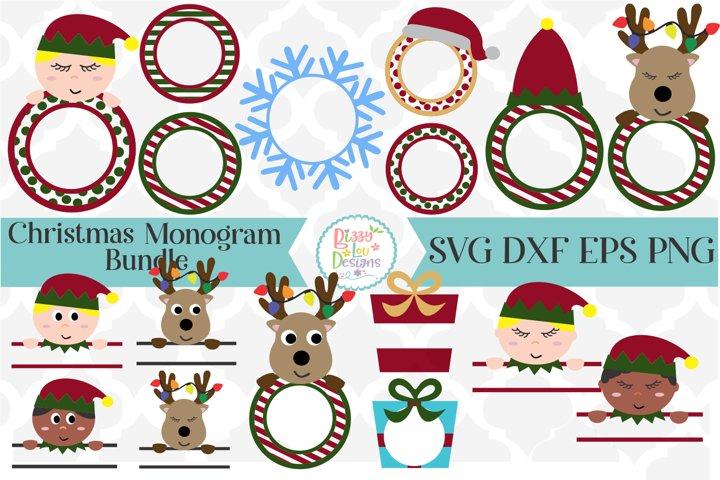Christmas Monogram Bundle SVG