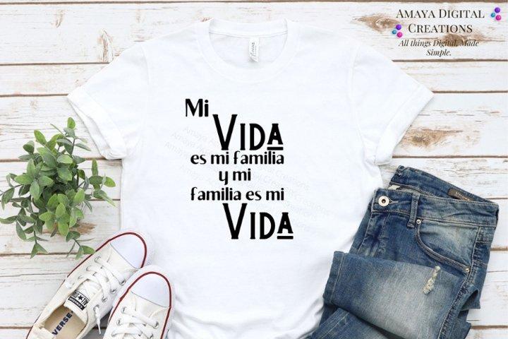 Mi Vida s Mi Familia Svg,Cute Spanish Quotes