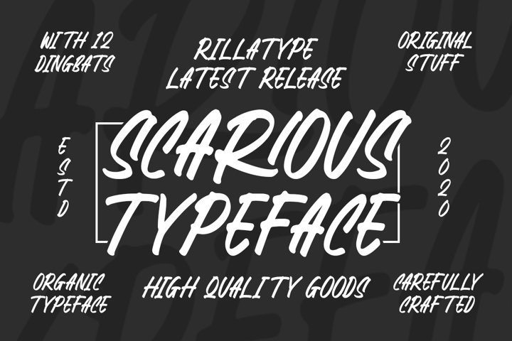 Scarious Typeface