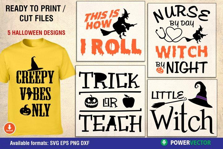 Halloween SVG Cuttable Designs