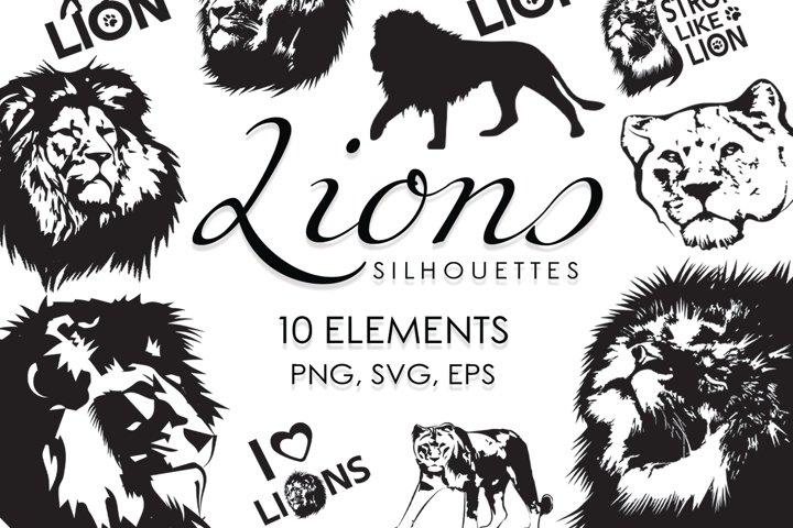 Svg Files, Svg Bundle, Cutting Files, African Animals, Lion