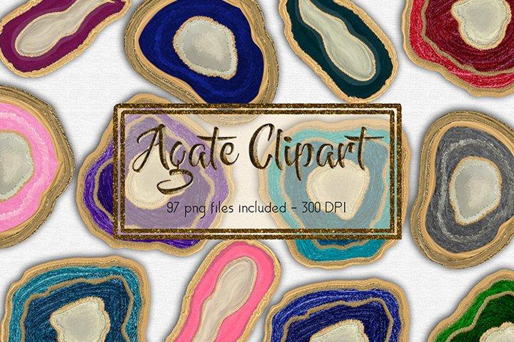 Agate Slice Clipart