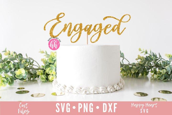 Engaged Cake Topper SVG - Engagement SVG