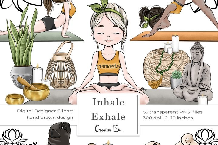 Inhale Exhale - Clipart