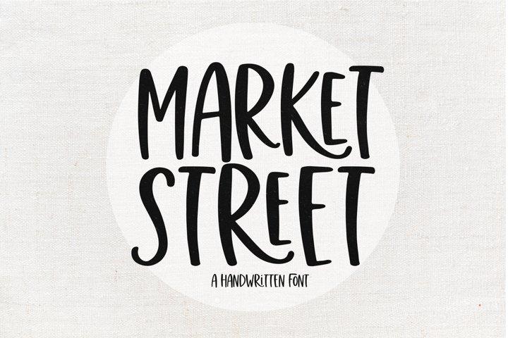Market Street - A Fun Handwritten Font