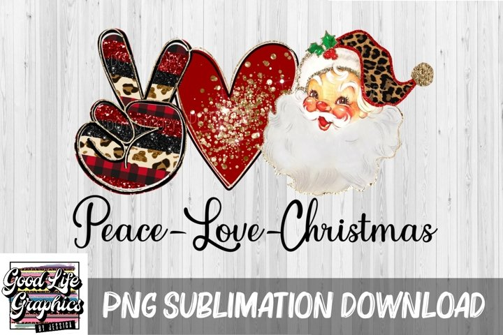 Sublimation Christmas designs for tshirts-Peace love