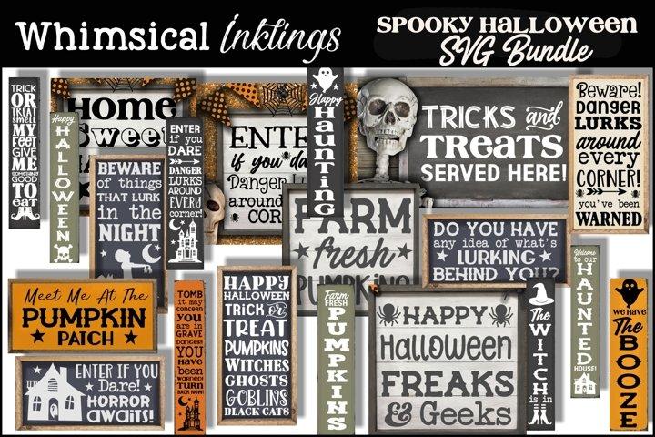 Spooky Halloween SVG Bundle-20 Designs!