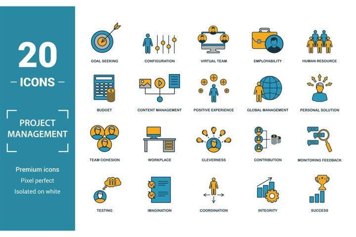 Project Management icon set.