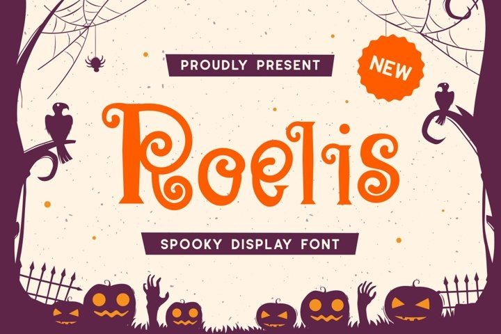 Roelis - Spooky Display Font