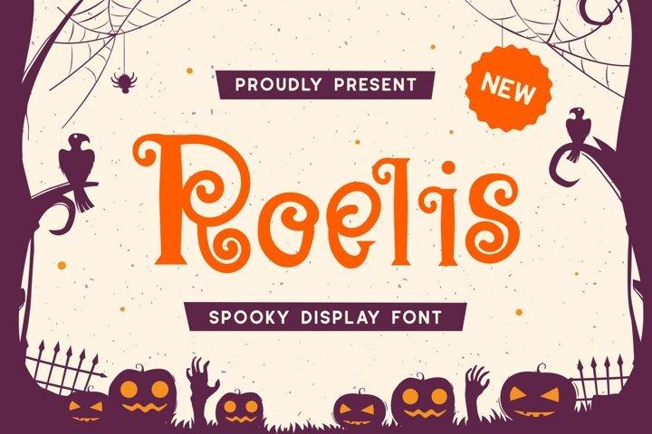 Roelis - Spooky Display Font