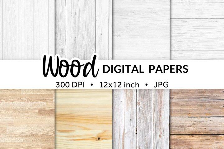 Digital Paper Bundle Wood, Digital Paper Background Texture