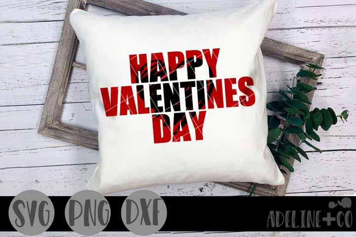 Happy Valentines Day SVG PNG DXF, Knockout