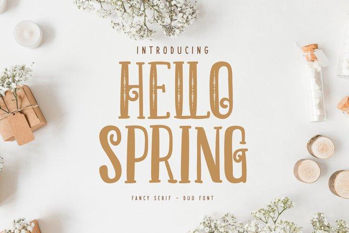 Hello Spring | Fancy Serif Duo Font