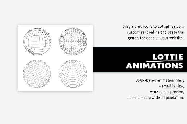 Sphere Lottie animation - 6 graphics
