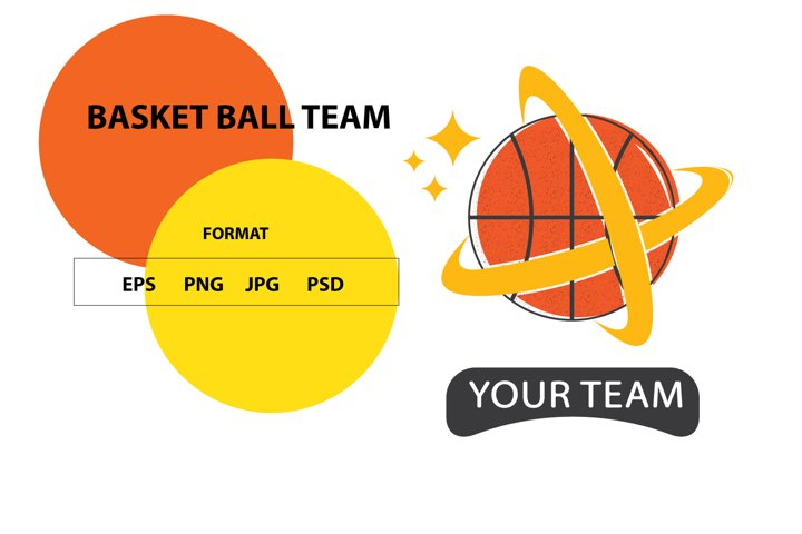 LOGO TEAM BASKET BALL