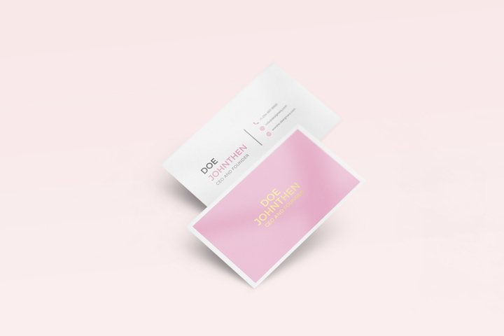 Minimalist Business Card with Two Different Color Vol.8