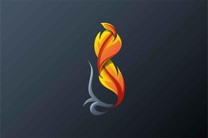 Feathers logo design vector