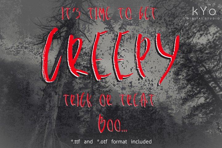 Creepy Halloween Distressed Brush Font