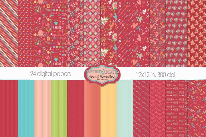 24 Love & Flowers - Red Collection