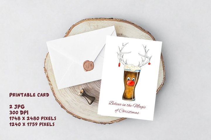 Christmas Deer Funny 2020 quotes Watercolor