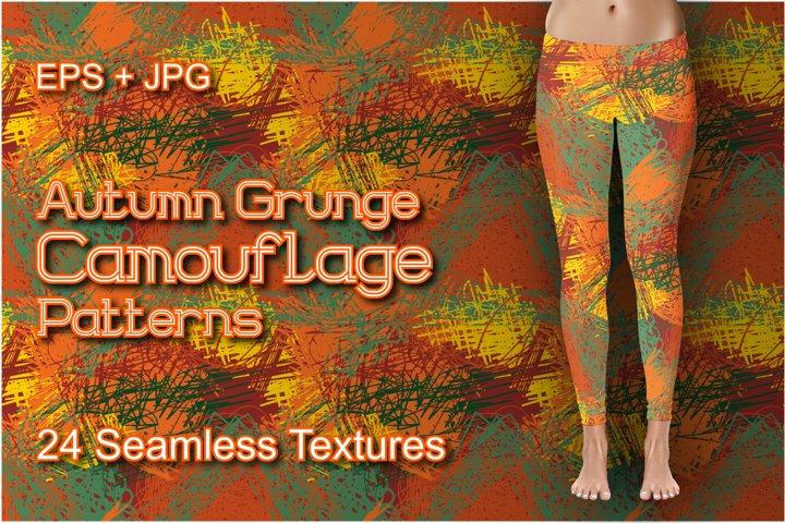 24 Autumn Grunge Camo Patterns