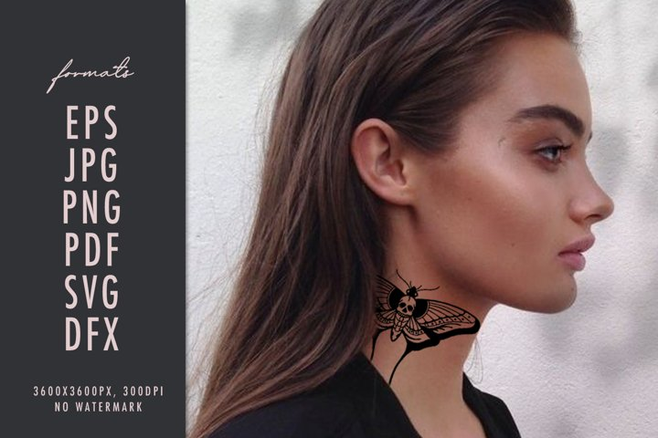 Butterfly paper cut design SVG silhouette moth cricut files