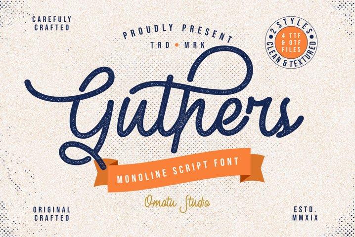 Guthers - Monoline Script Font
