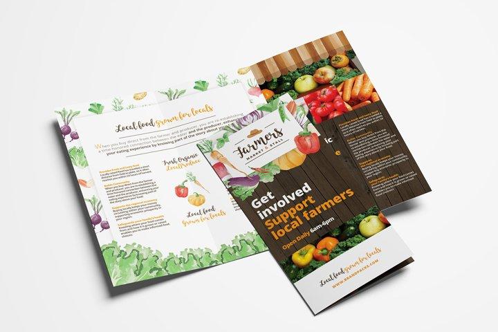 Farmers Market Trifold Brochure Template