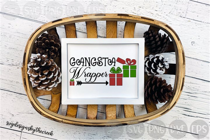 Gangsta Wrapper, Gifts, Bows, Christmas, Cut File, SVG