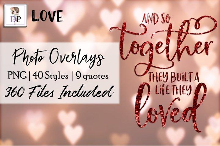 Love v1 Bundle Photo Overlays Social Media Canva Photo