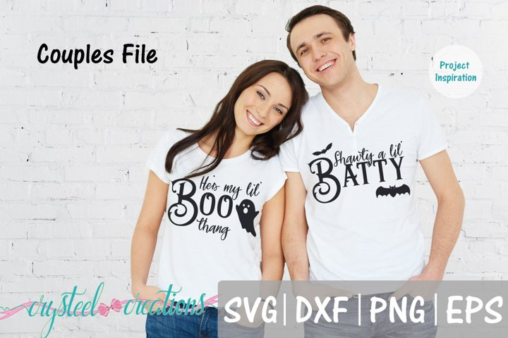 Shawty a lil Batty Couples Halloween SVG, DXF, PNG,EPS