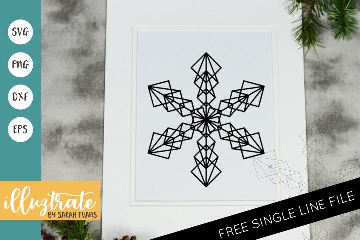 Snowflake Mandala SVG | Christmas Mandala SVG Cut File