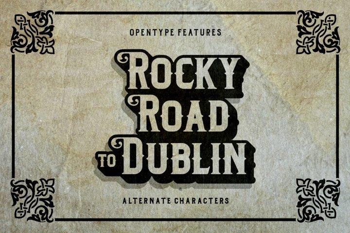 Dublin - Free Font of The Week Design1