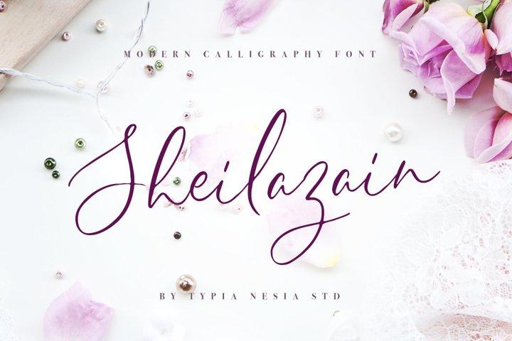 Sheilazain - Free Font of The Week Font