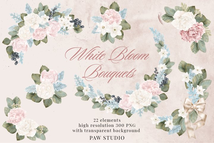 Wedding Flowers Frames Bouquets Borders Peonies Rose Clipart