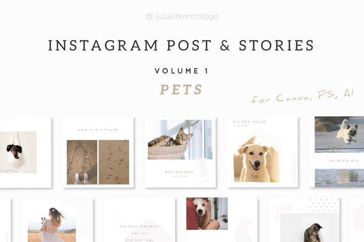 Instagram Post & Stories. Pets
