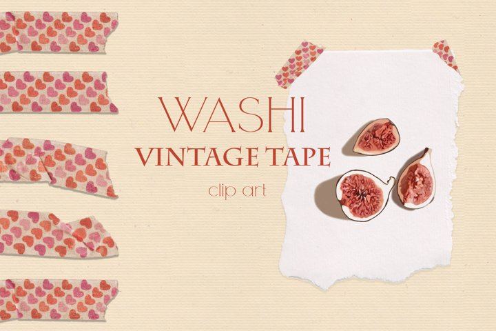 Washi Vintage Tape Clipart Collection