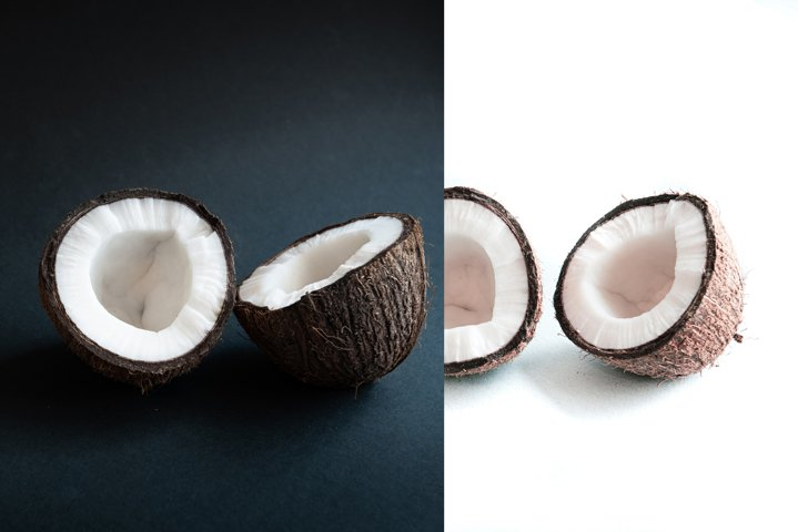 Isolater two halves of coconut