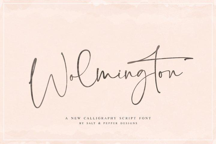 Wolmington Script Font