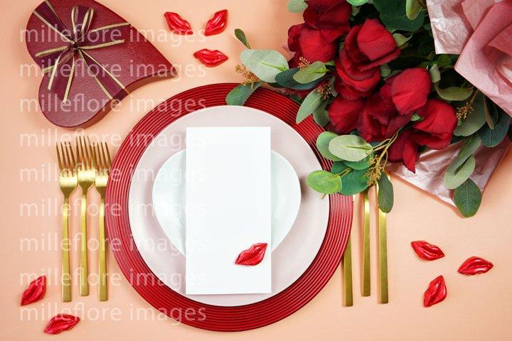 Valentine Menu Table Plates SVG Craft Mockups Styled Photo