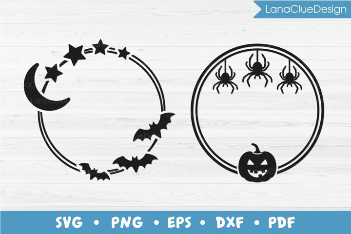 2 Halloween Frames SVG PNG DXF EPS PDF