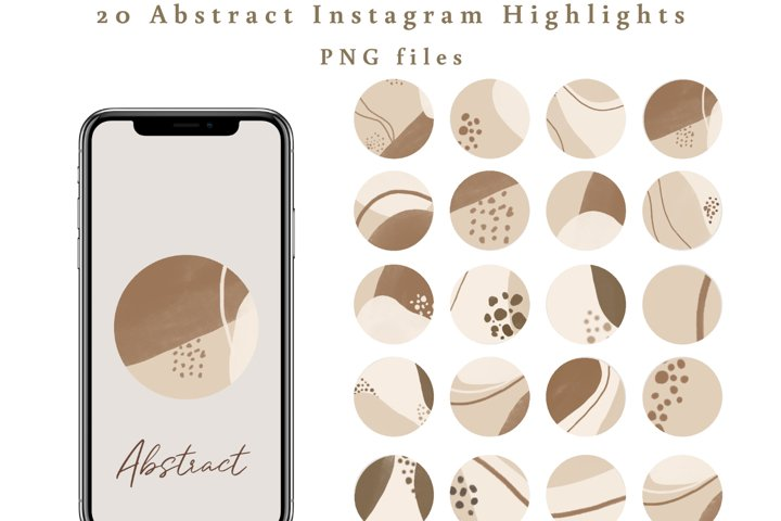 20 Boho Abstract Instagram Highlight Covers