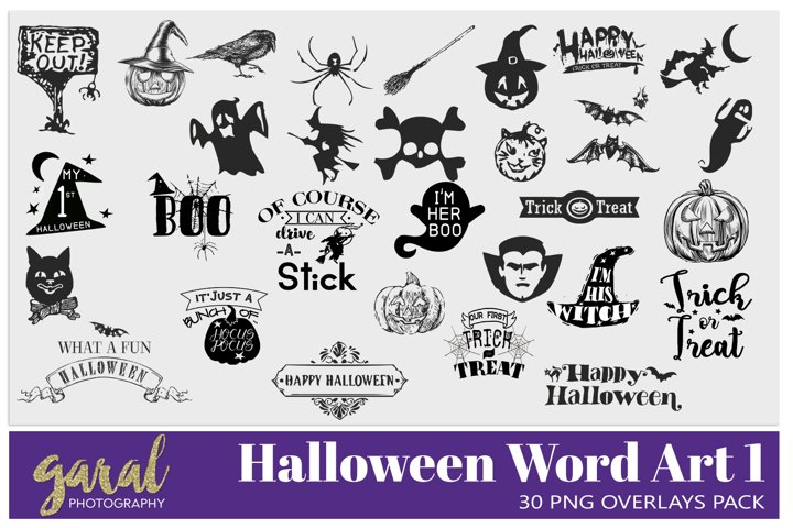 30 Halloween Word Art and Clipart 1