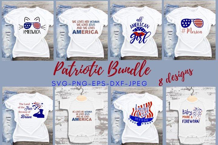 Patriotic Bundle svg cut file SVG DXF PNG 4th of July Bundle