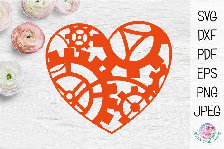 Steampunk heart valentines