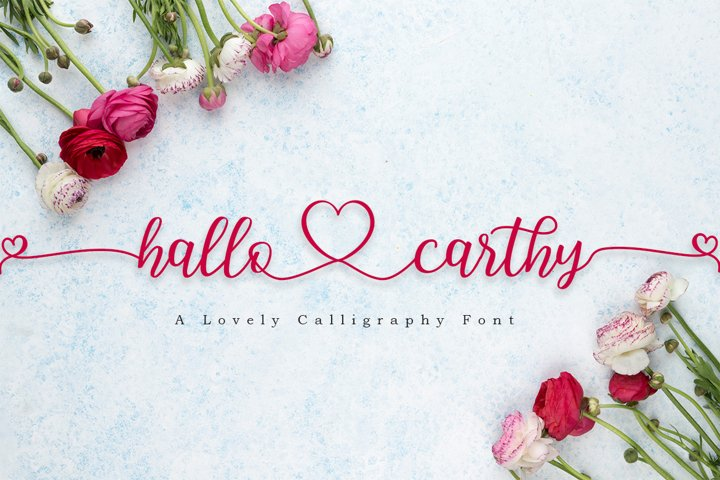 Hallo Carthy | A Lovely Calligraphy Font